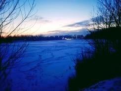 jezero-zima